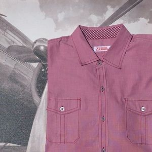 Double Red Double Pocket Shirt